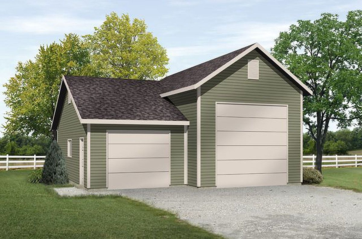 Plan 22101sl Rv Garage With Options Garage Door Design Rv Garage Garage Plan