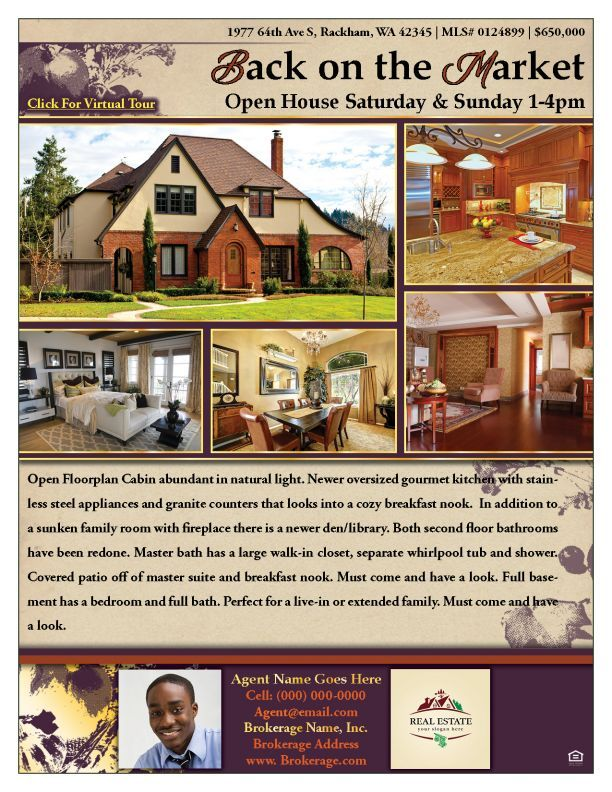Thanksgiving  Real Estate Flyer Sample  Zip Your Flyer  Real