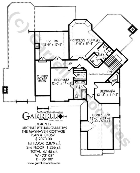 French Country Cottage House Plans mayhaven cottage house plan 04067, 2nd floor plan, french country