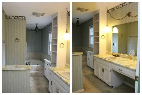 Black Gray And Brass Master Bathroom Remodel Pinterest Master - 70s bathroom remodel