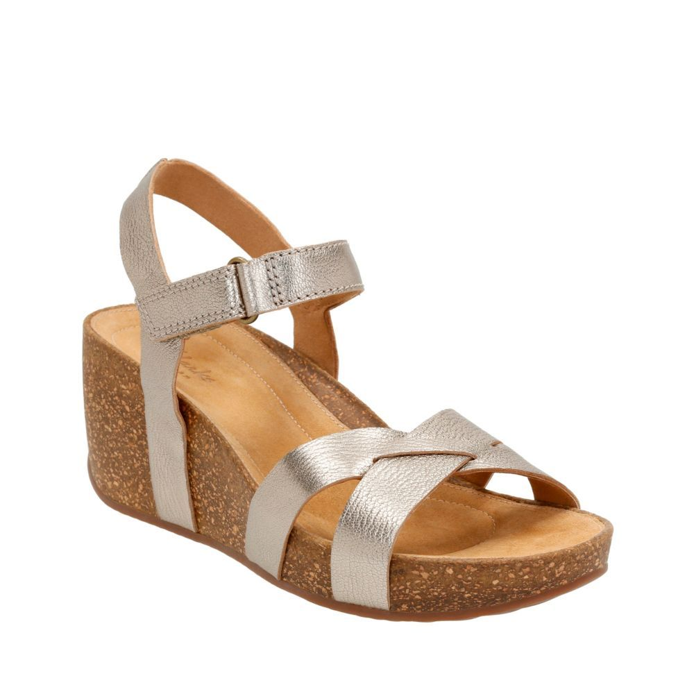 1e7876e7c7 Temira Compass Gold Metallic Leather womens-sandals | Cute Shoes ...