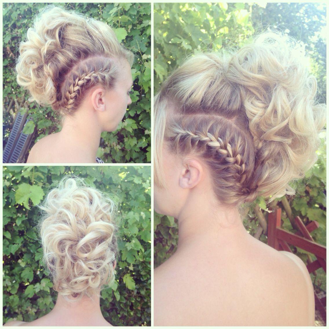 Mohawk hair up on my big sister mohawk hairup hair blonde braid