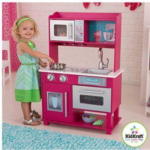 Toys | Wooden play kitchen, Toddler kitchen, Kitchen sets ...