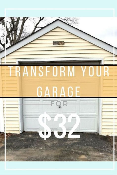 Garage Door Makeover Garage Door Makeover Diy Garage Door Door Makeover