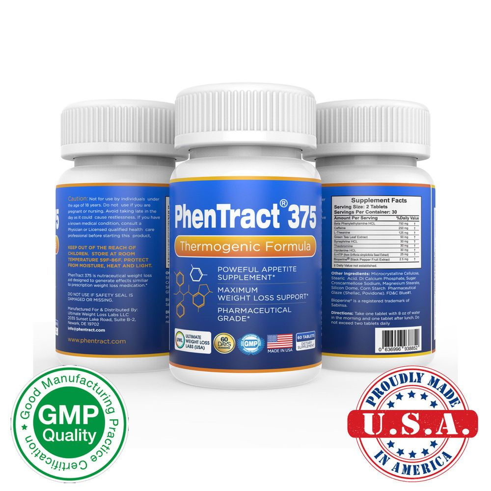 Details About Phentract375 Diet Pills Weight Loss Fat Burner