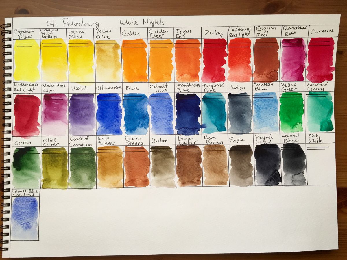 Doodlewash Review White Nights Watercolours Watercolor Color