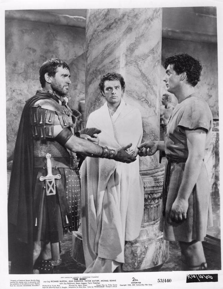RICHARD WITH JEFF MORROW AND VICTOR MATURE