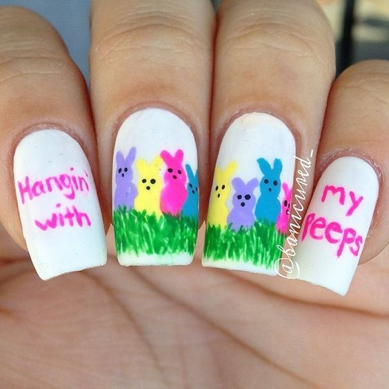 Top 19 New Easter Nail Designs – Famous Manicure Trend Idea From Fashion Blog - Homemade Ideas (2)