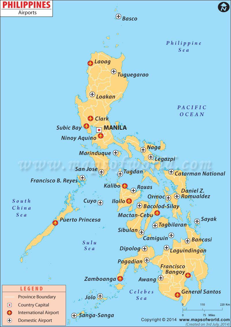 Airport Map Of Philippines Philippinen Philippinien Manila