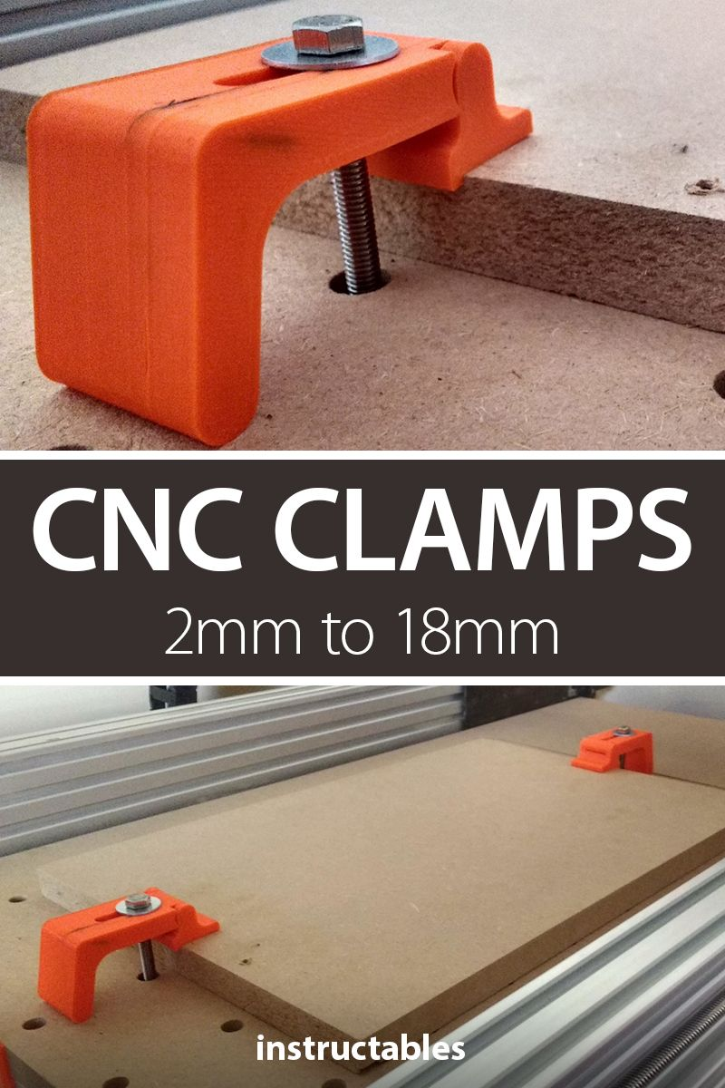 CNC Clamps 2mm (0.08 Inch) to 18mm (0.7 Inch)