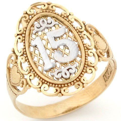 15 Anos Quinceanera Filigree Ring | 15ERA | Pinterest ...