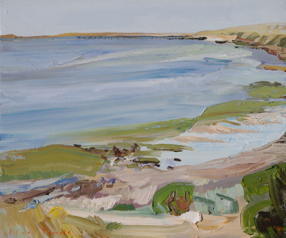 Port Victoria by Lise Temple Seascape paintings, Art
