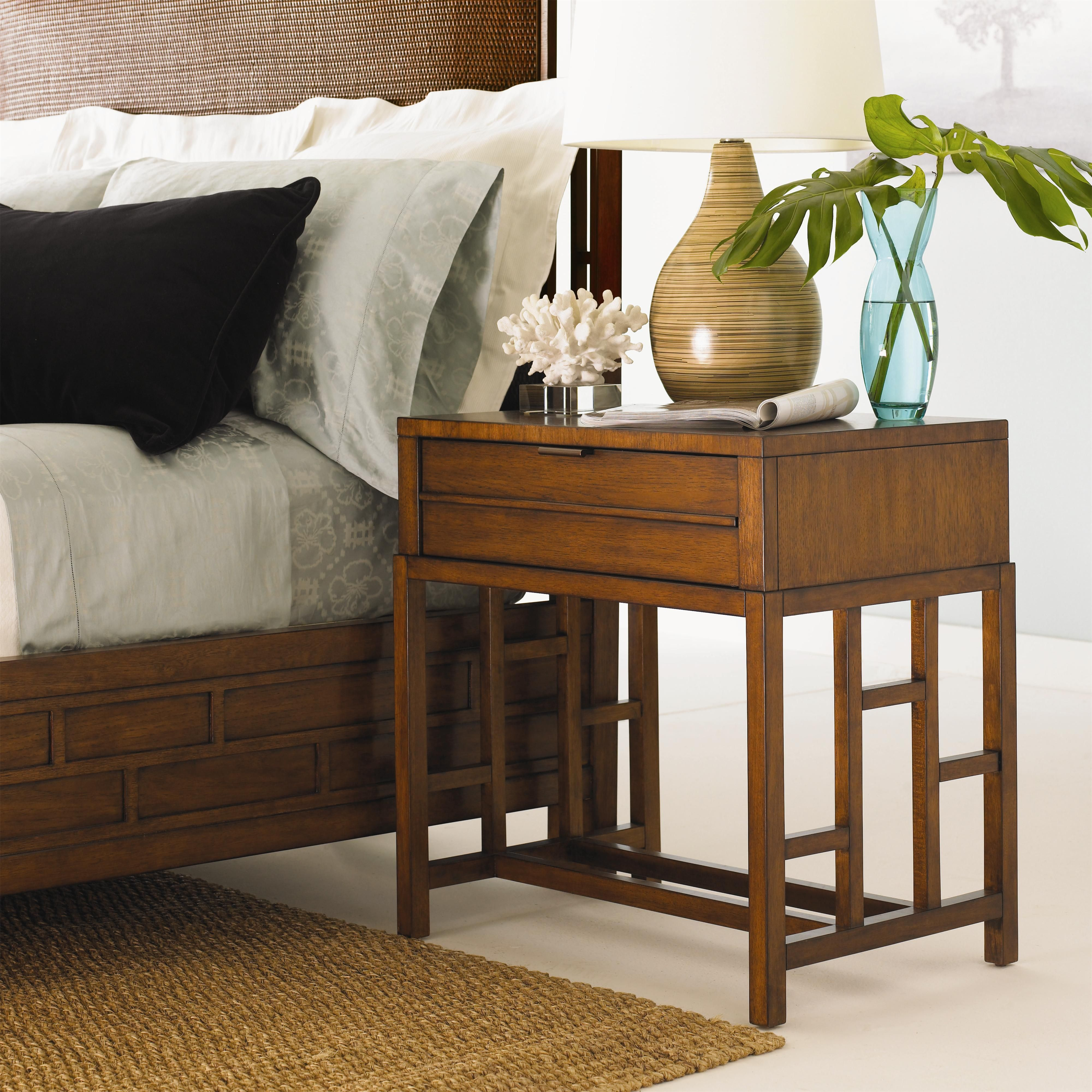 Ocean Club One Drawer Finished Back Kaloa Nightstand by