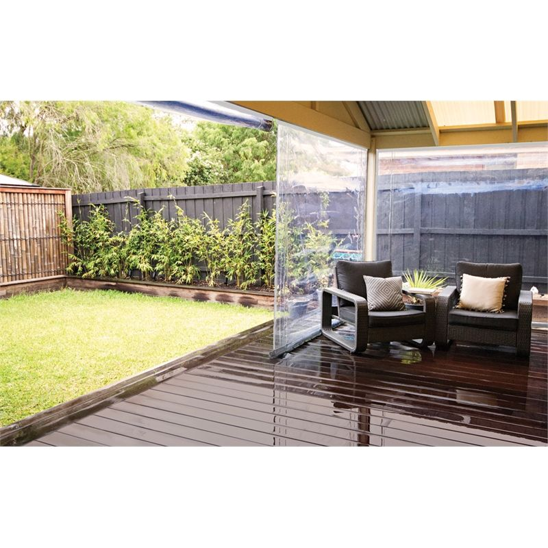 Bistro Blinds 0 75mm Pvc Outdoor Blind 900mm X 2400mm Charcoal Black Outdoor Blinds Patio Curved Pergola