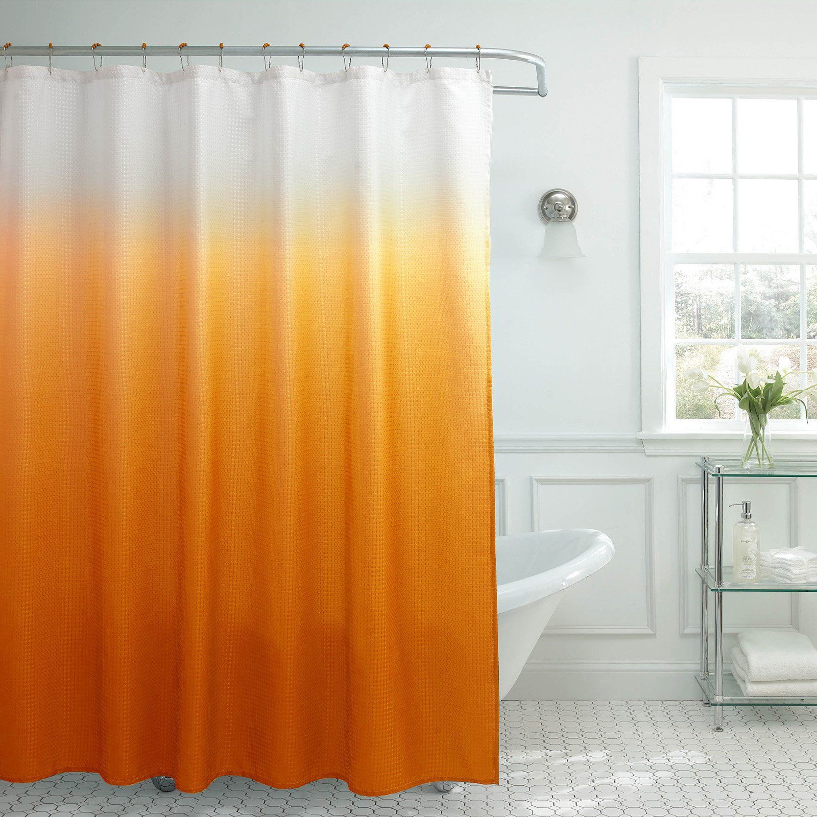 Creative Home Ideas Ombre Textured Shower Curtain Ombre Shower
