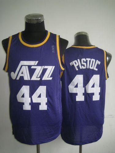 Jazz  44 Pete Maravich Purple Pistol Soul Swingman Embroidered NBA Jersey!  Only  21.50USD da4e238e8
