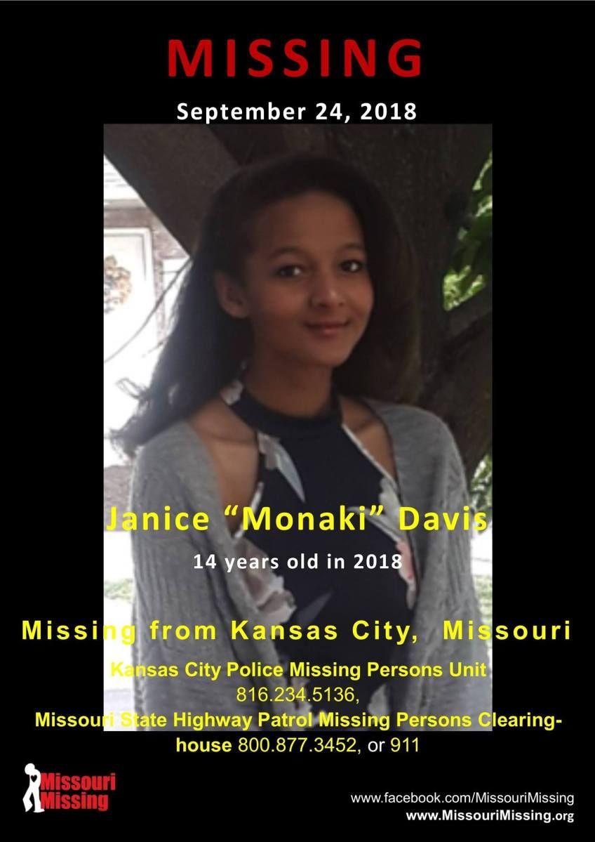 Find Missing Janice Monaki Davis Missouri State Missing Child