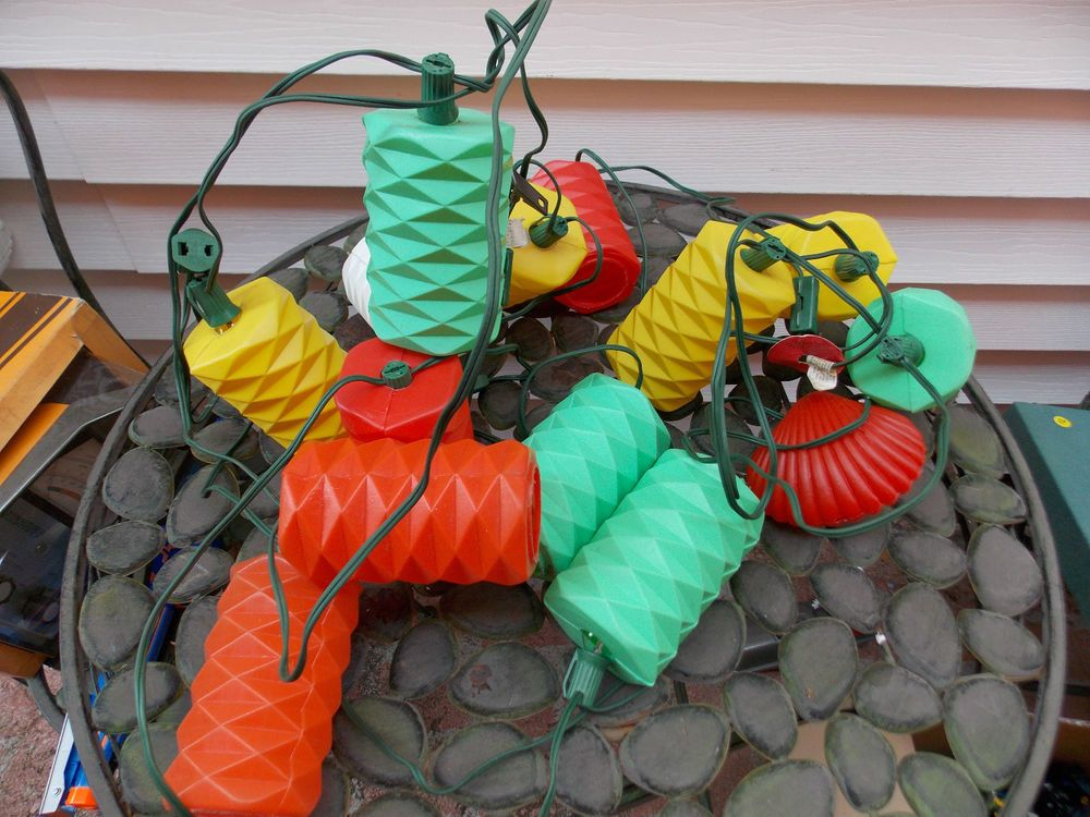 Vintage Blow Mold Patio RV Camping Party Lights Light ...