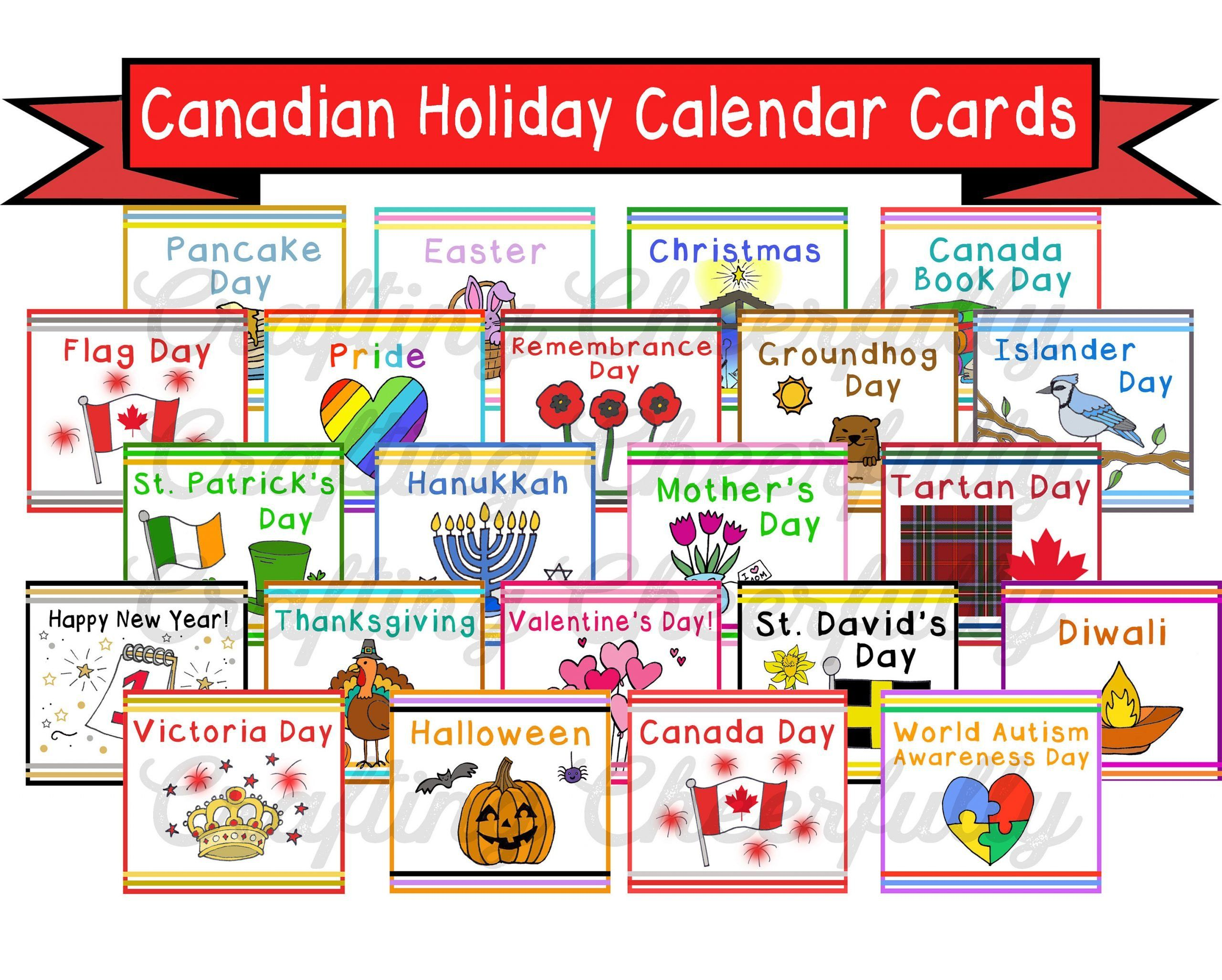 Preschool Worksheet Packet Canadian Holiday Calendar
