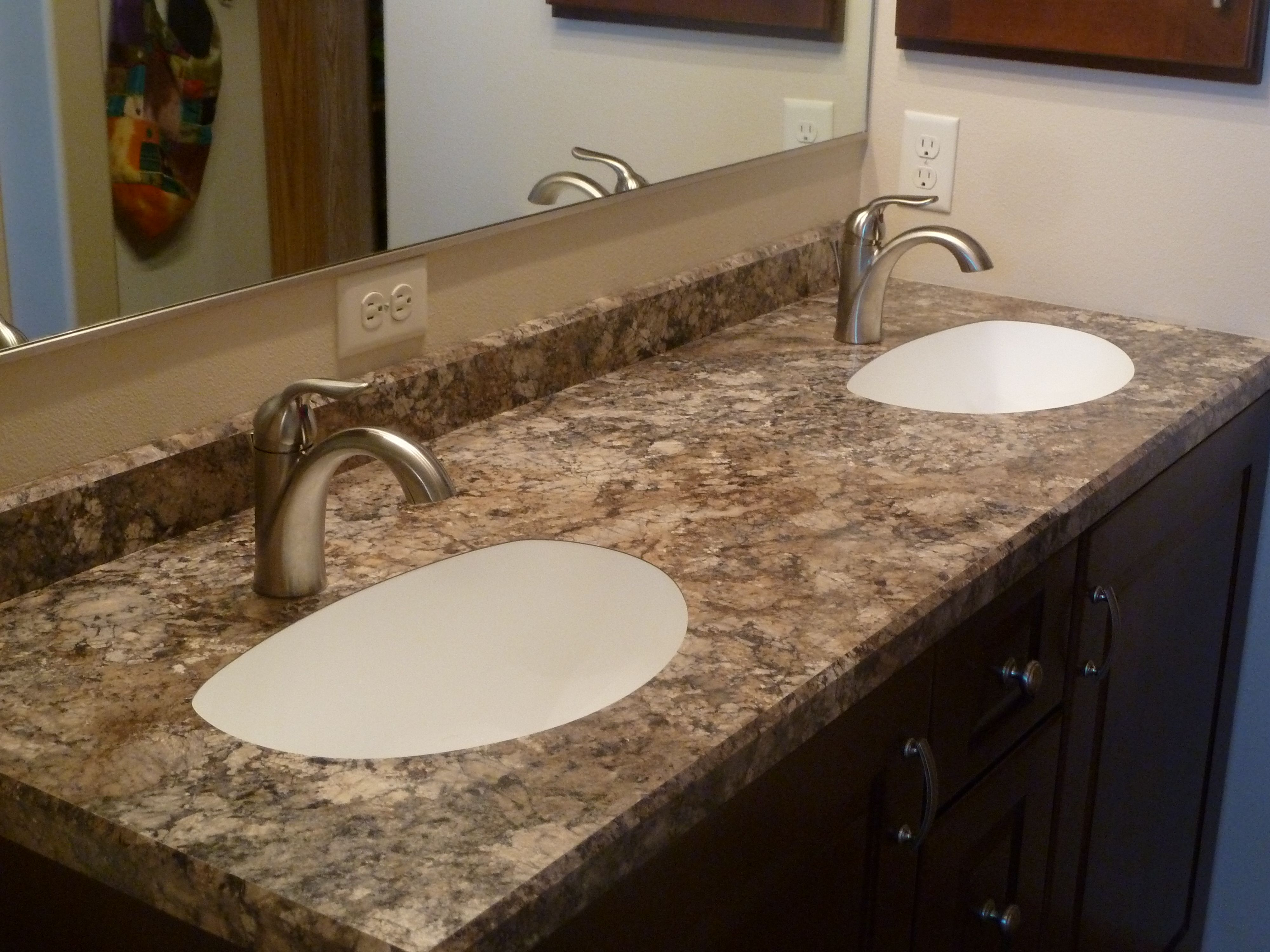 Double Undermount Karran Sinks In Wilsonart Laminate Counter Top