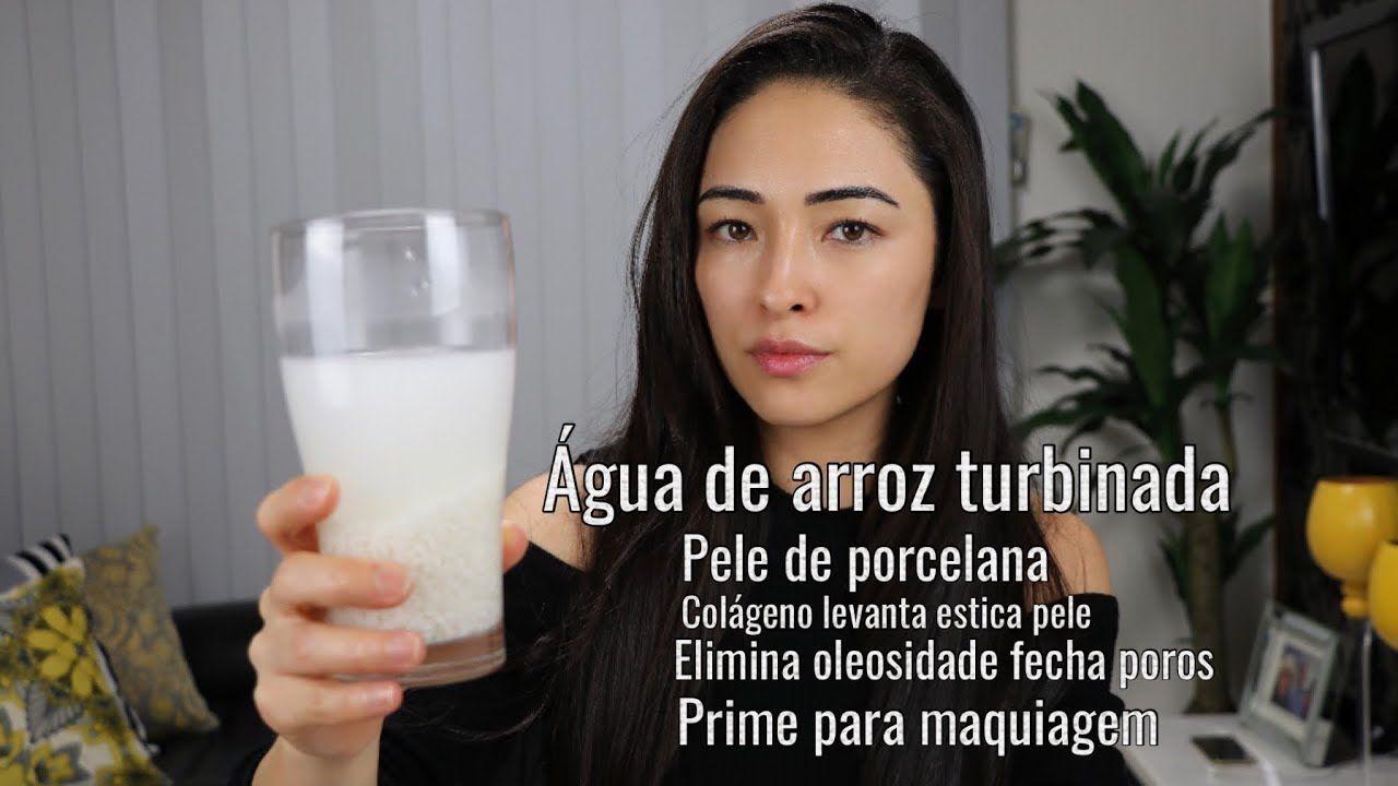 Agua De Arroz Turbinada Com Colageno Levanta Estica Pele Elimina