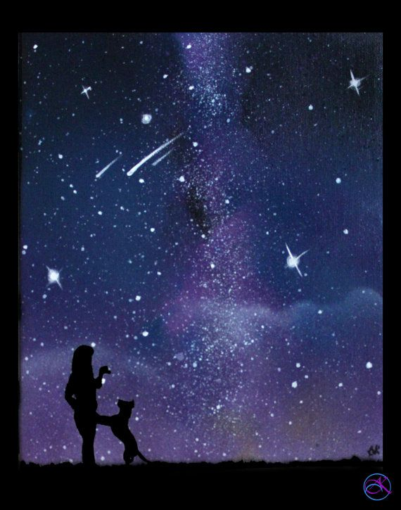 Pet Memorial Painting Space Painting Galaxy Painting