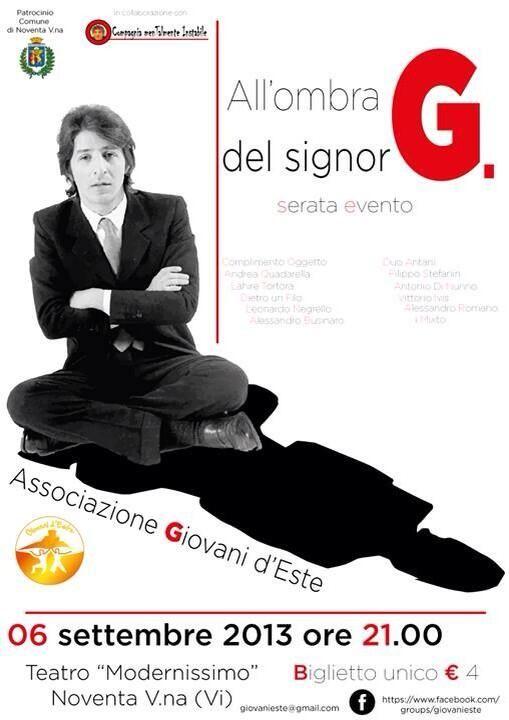 All'Ombra del Signor G - spettacolo in ricordo del grande #GiorgioGaber