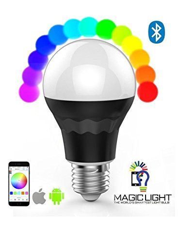 MagicLight Plus - Bluetooth LED Light Bulb - Smartphone Controlled  Dimmable Multicolored Color Changing Smart