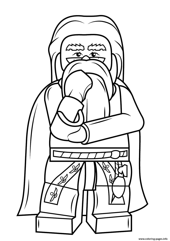Print Lego Albus Dumbledore Harry Potter Coloring Pages