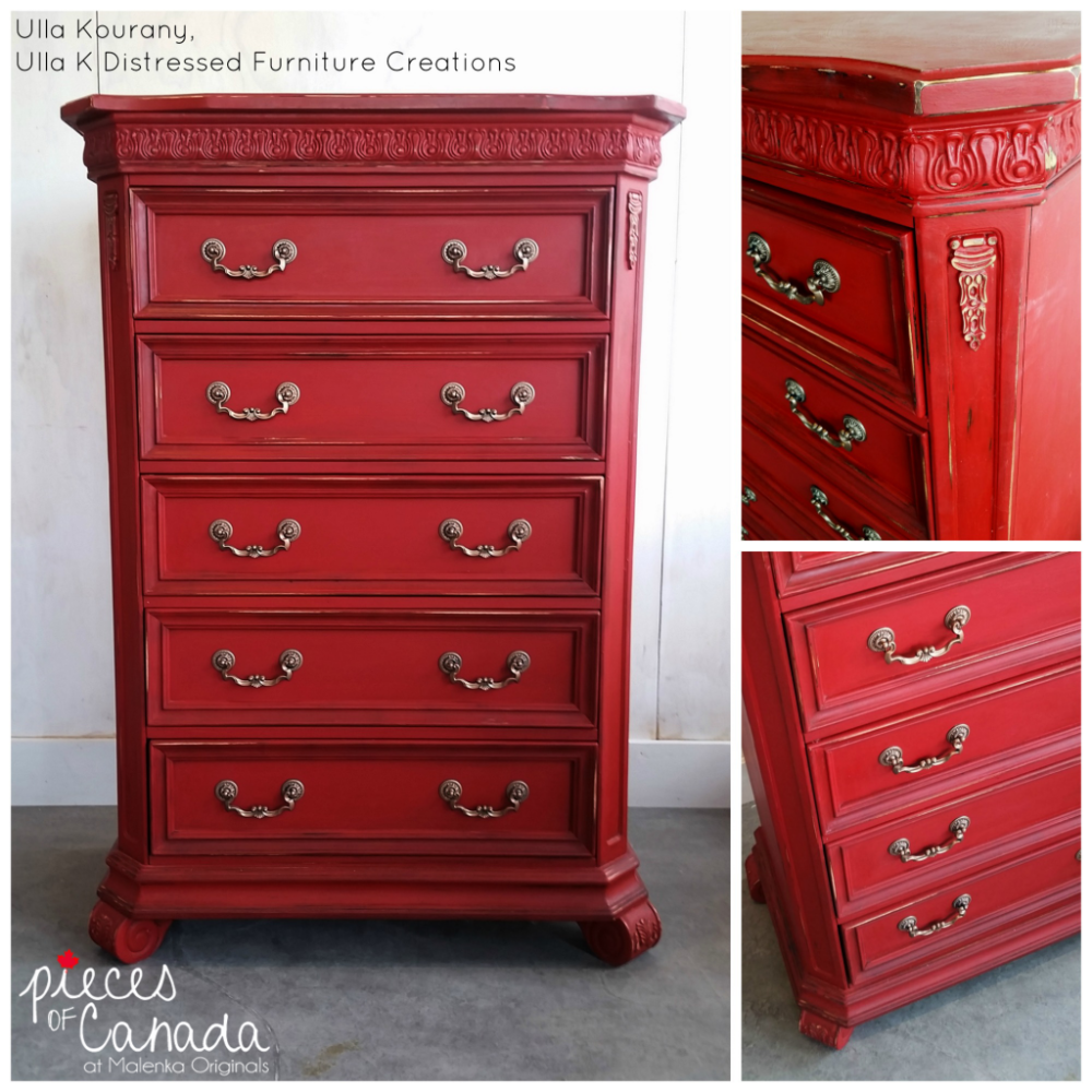 Using Annie Sloan S Emperor Silk Chalk Paint Is The Perfect Shade To Get Those Canada Day Juices Flowing Some Dark Wax Was Added Enhance