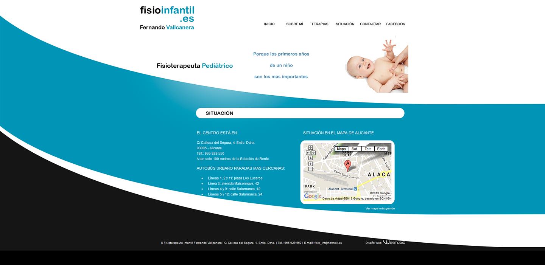 Web Fisioterapeuta pediátrico Fernando Vallcanera v.1 - Situación #diseñoweb #paginasweb #DiseñadorWebValencia #DiseñadorWeb