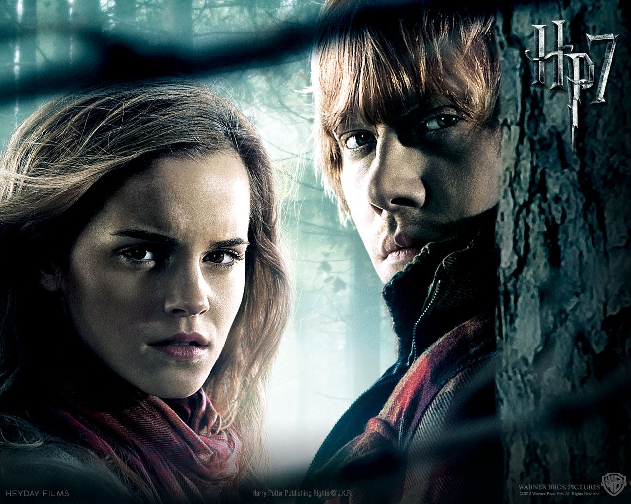 Harry Potter And The Deathly Hallows Part 2 Free Wallpaper Wallpaper Resour Ron And Hermione Harry Potter Ginny Harry Potter Movies
