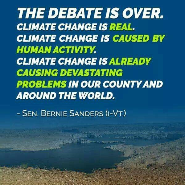 Image result for the debate is over on climate change