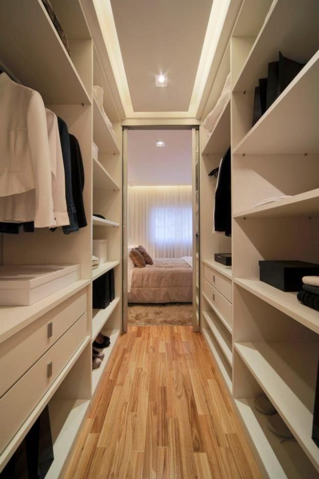 95 ideias de closet pequeno como planejar organizar for Como hacer un closet moderno