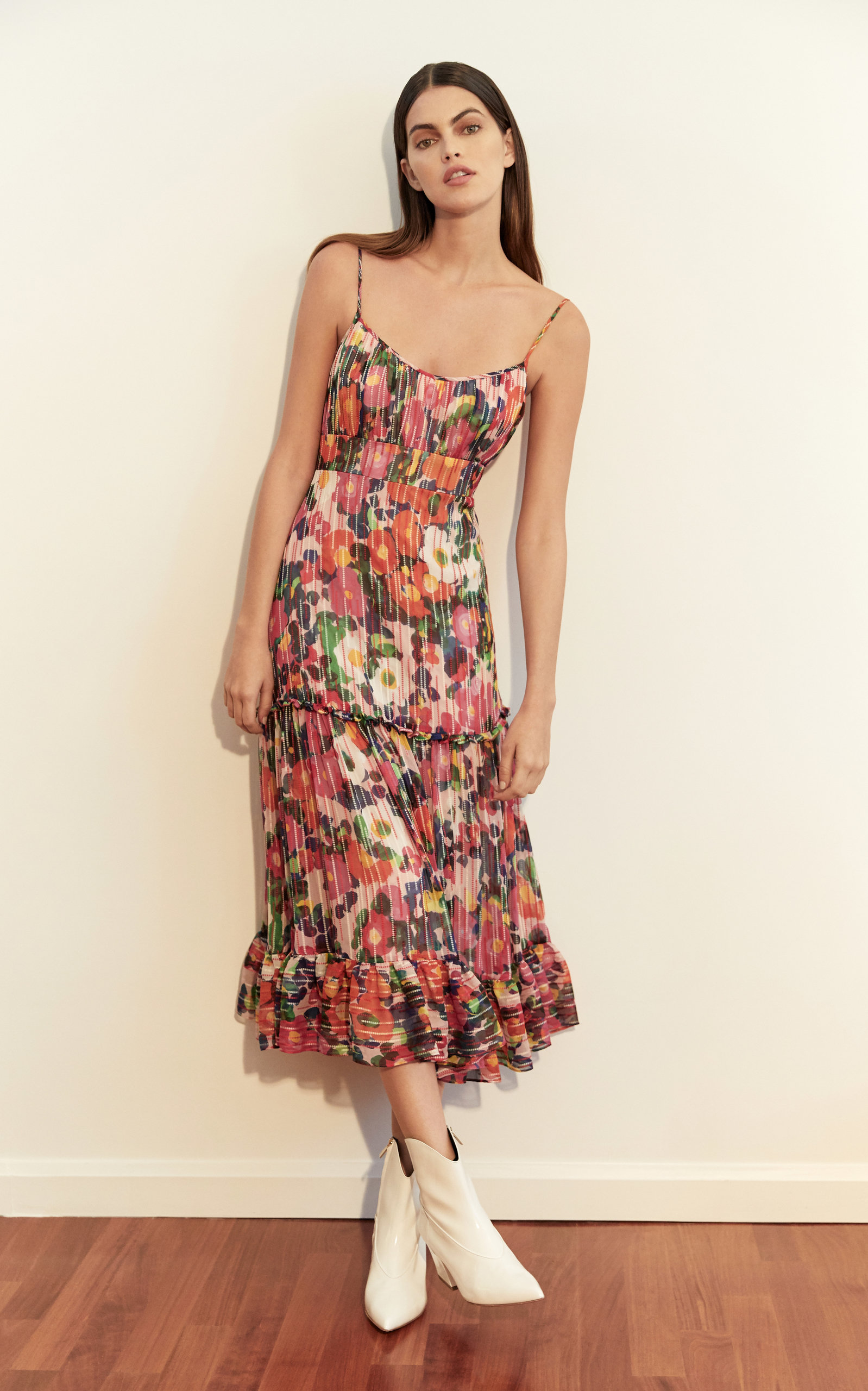 3f2db3d1527 Bella Floral-Print Silk Midi Dress by SALONI Now Available on Moda Operandi