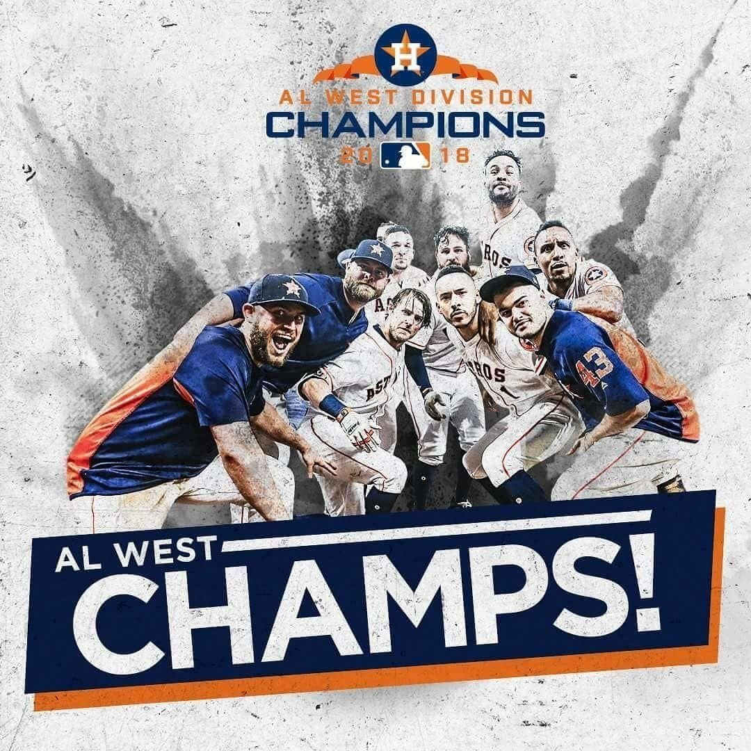 Houston Astros AL West Division Champs 2018 | Houston astros