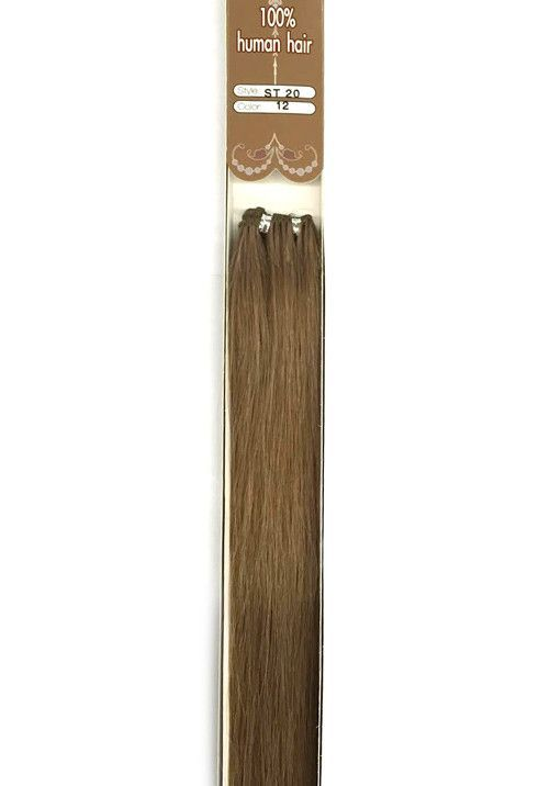 """20"""" 9A Supreme Quality Color 12 Straight Human Hair Extension"""