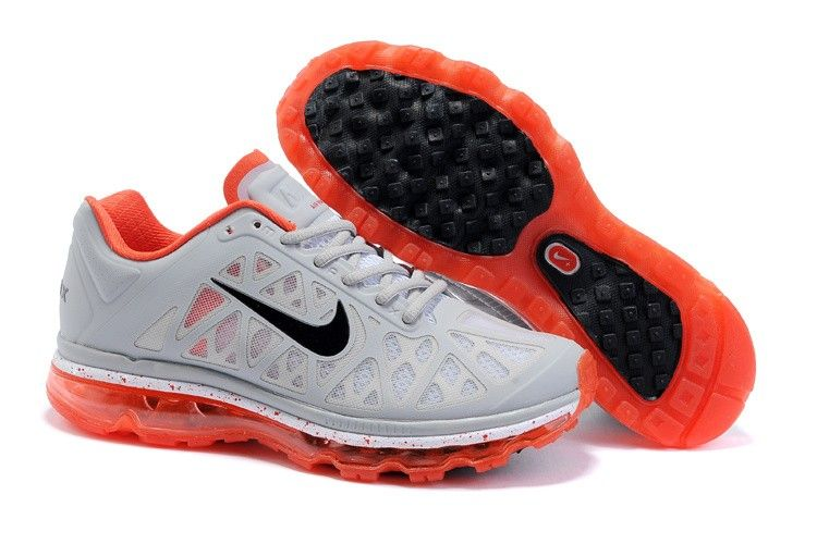 Nike Air Max 2011 Light Grey/Orange/Black Women Mesh Shoes [Nike Air