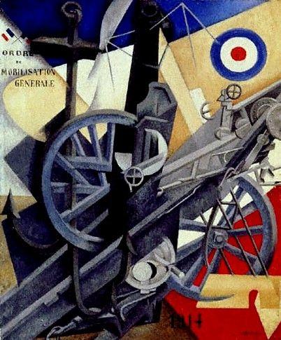 """Synthèse plastique de l'idée de guerre"", Severini, 1915"