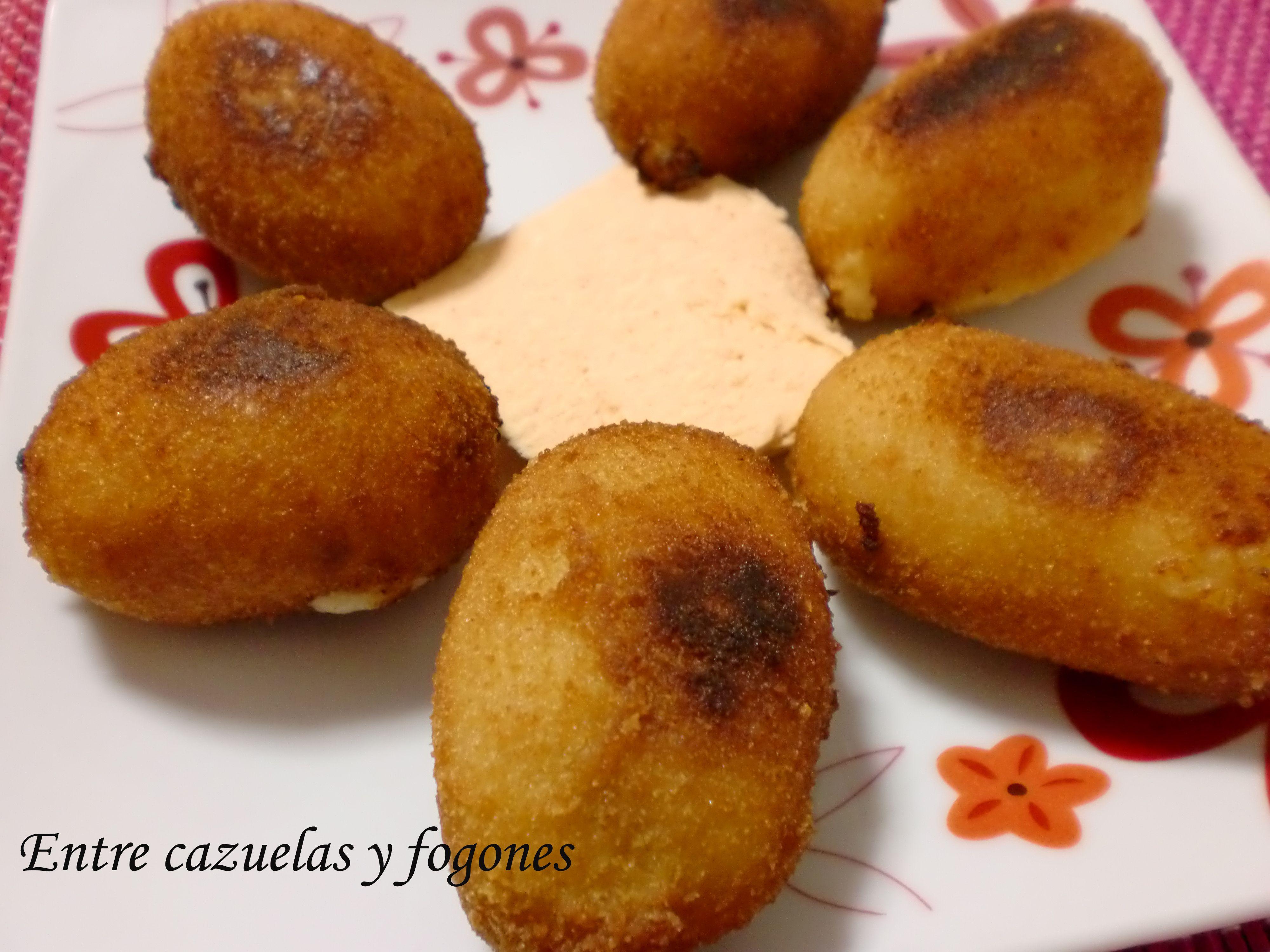 Croquetas de queso afuega´l pitu, delicioso queso asturiano