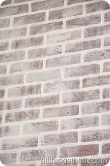 How To Install Faux Brick Panels And Paint Distress It Look Weathered White Washed