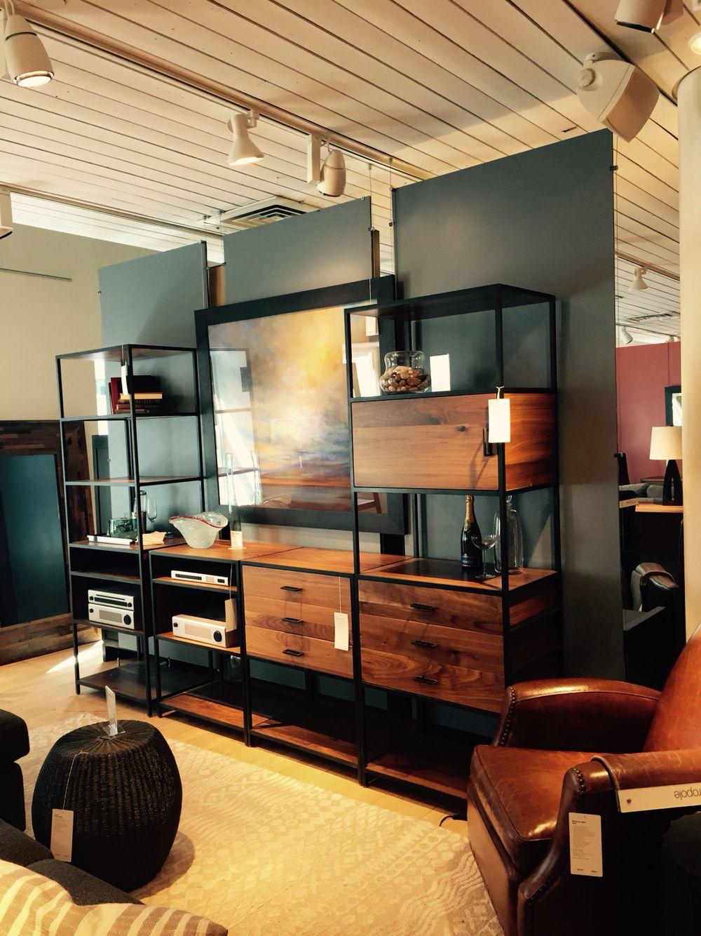 Mueble estantes hierro y madera herreria furniture for Mueble de pared industrial
