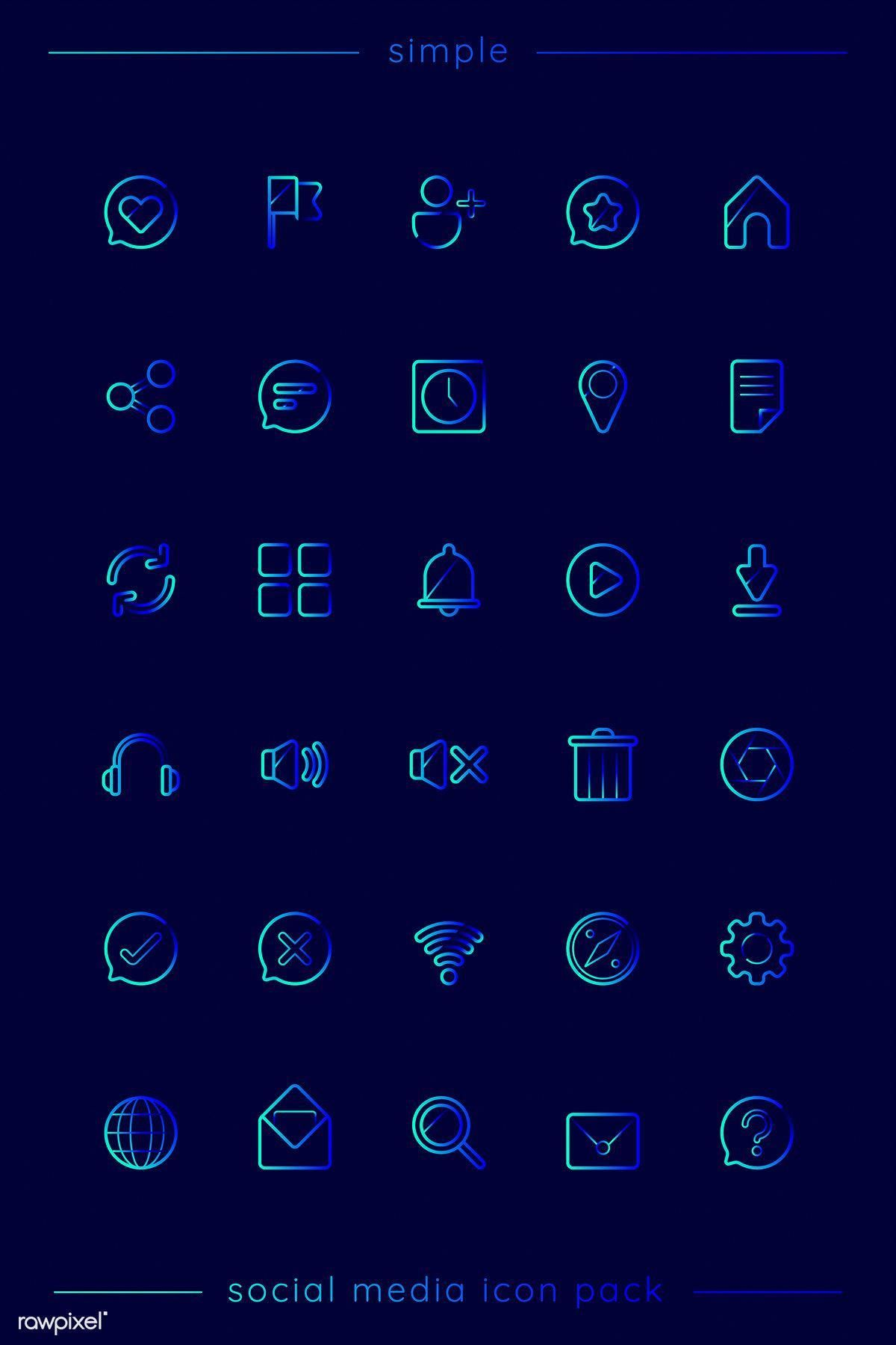 Social media icon pack vector premium image by rawpixel