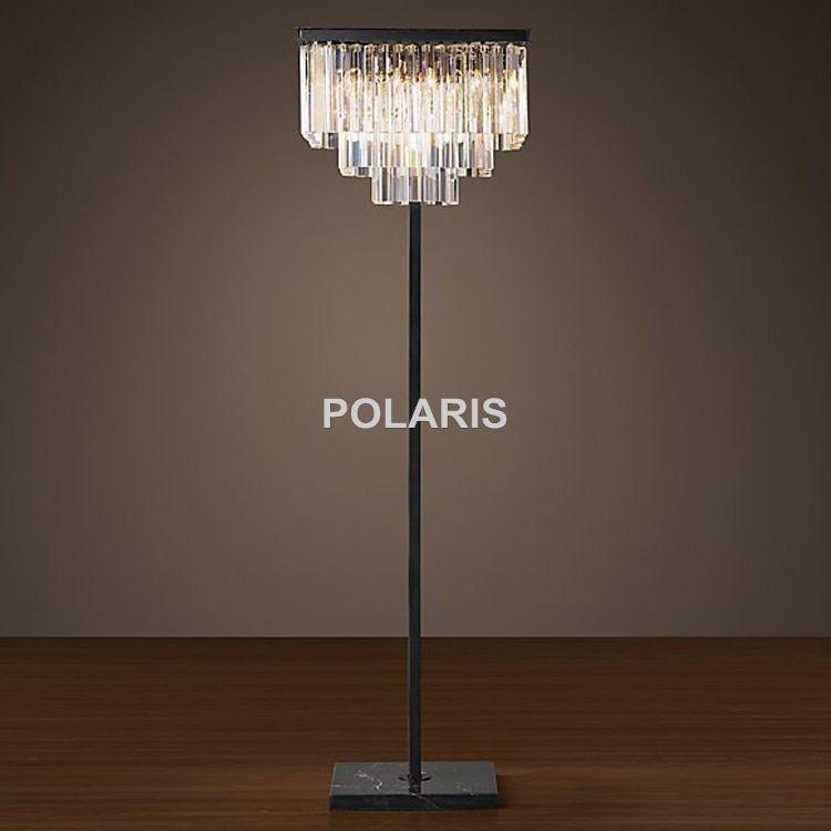 3 Light Crystal Floor Lamp Costco In 2020 Crystal Floor Lamp Lamp Square Floor Lamp