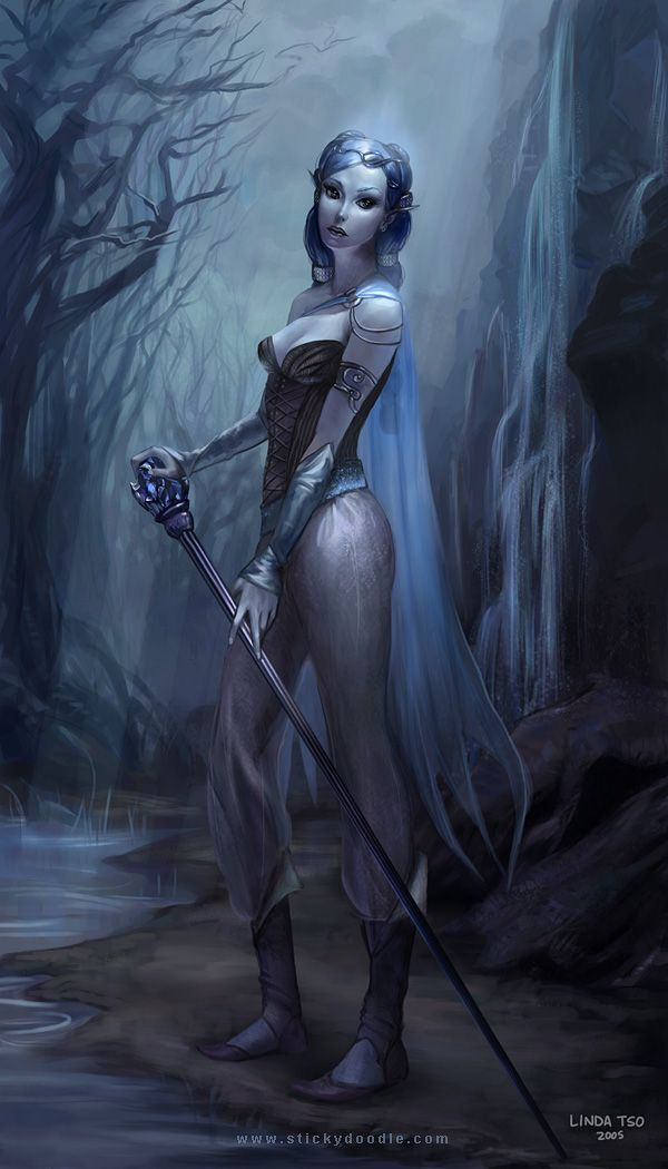 Moon Elf Fantasy Art