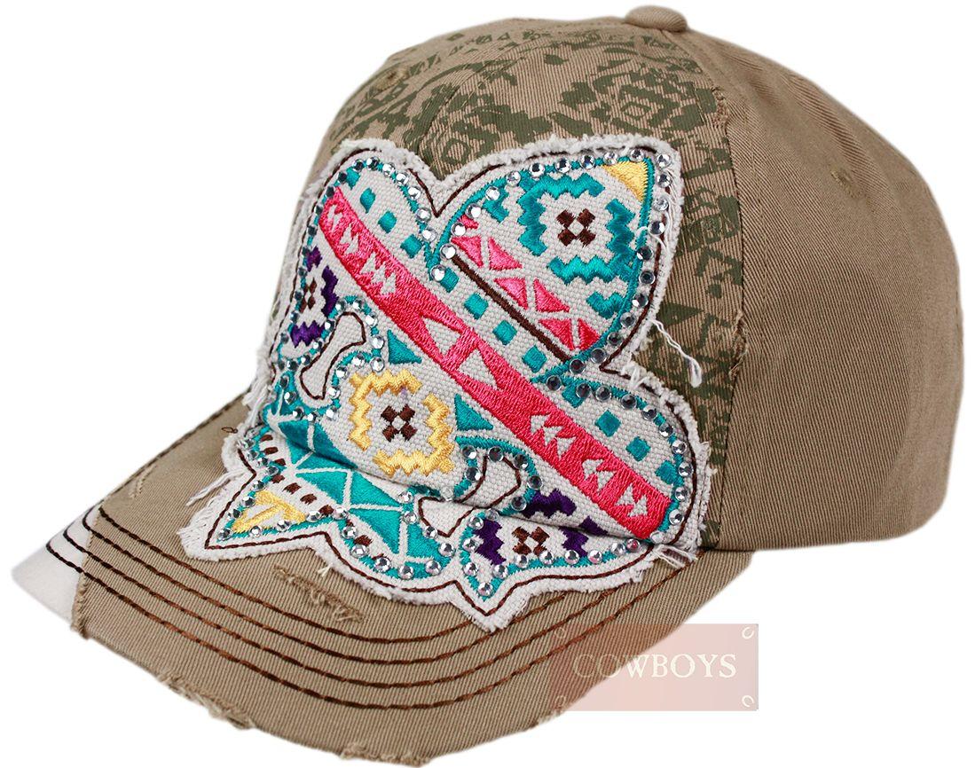 Boné Country Aplique em Apache. Boné feminino importado 76e32b4a7b41c