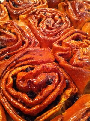 Chelsea buns from Fitzbillies, Cambridge UK. Served at Hot Numbers Coffee shopI  i went to this bakery IN 2010, OH WONDERFUL CAKES AND BUNS, THE OLD FASHIONED KIND, NOWHERE LIKE IT, cant wait to go again on our next trip to Cambridge, my home city.