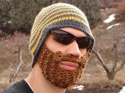 Crocheted beanie with beard crochet beard beard hat and crochet yellow and gray striped bearded beanie by taraduff on etsy dt1010fo