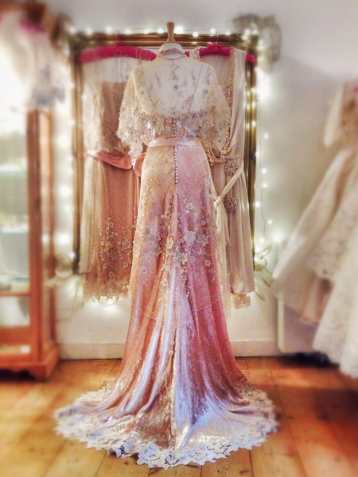 d60423e1863 Joanne Fleming Design  Belle Epoque elegance.....  Gabrielle  in silk velvet  and embroidered tulle