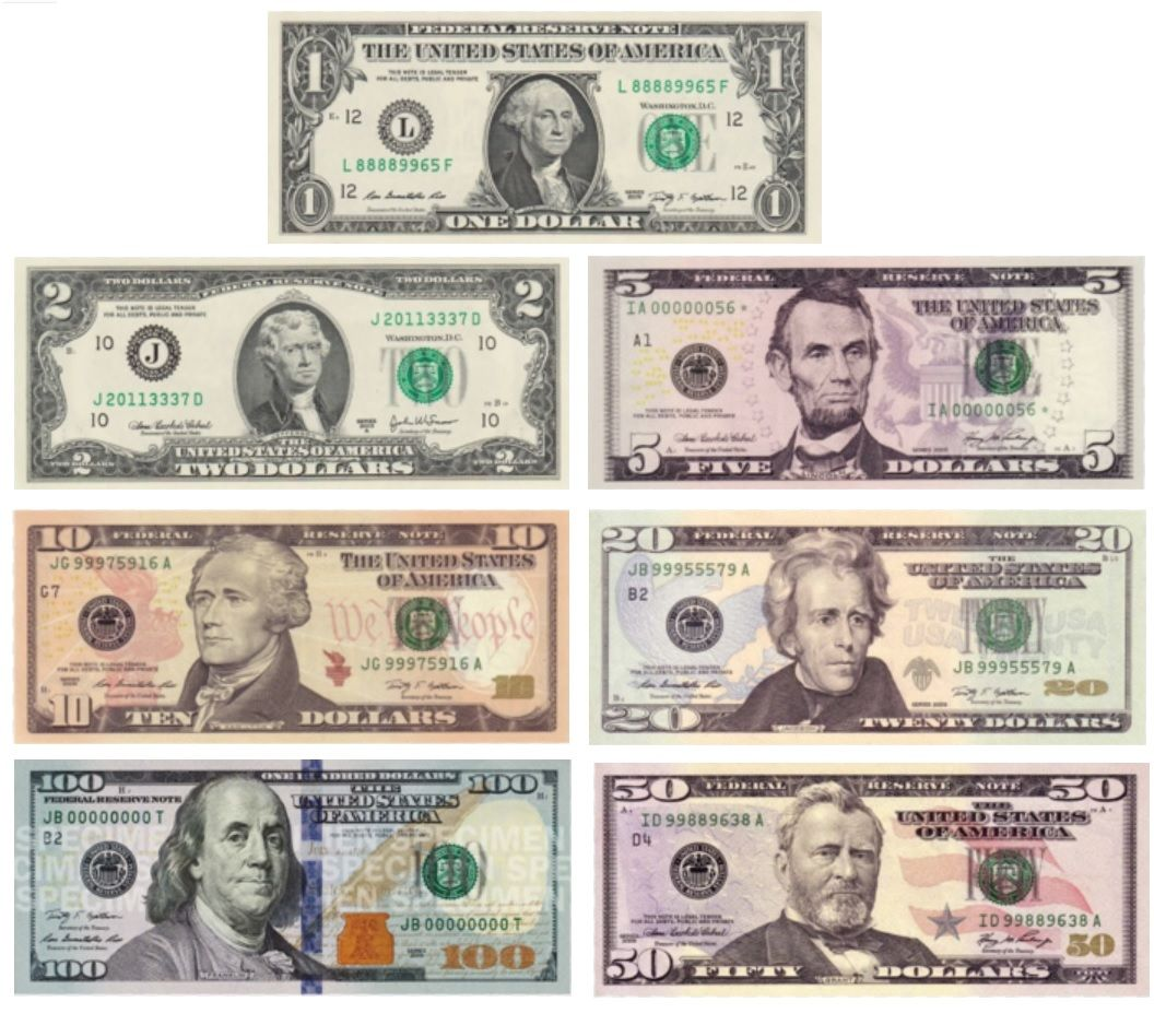 Us Money Bills